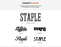 Staple Tees Logo Concept Design