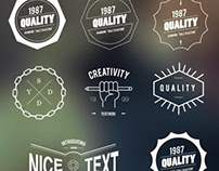 FREEBIE: FREE HIPSTER BADGES INSIGNIA VECTOR