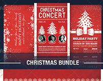 The Typographic Christmas Flyer Bundle Vol 1.