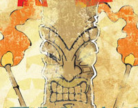 Tiki Luau Poster