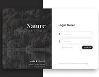Nature Login Page UI Design - Web #03