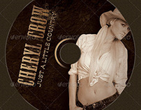 Country Western Music CD Artwork Template