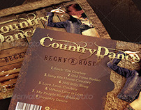 Country Dance Music CD Artwork Template