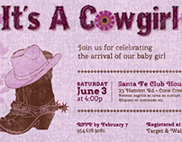 Cow Girl Baby Shower Invitation Template