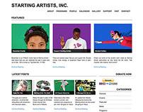 Starting Artists, Inc. Website