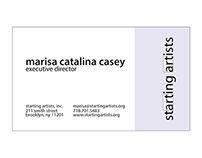 Starting Artists, Inc. Printed Materials