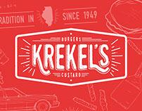 Krekel's Burgers & Custard Branding