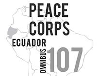 Peace Corps Ecuador T-shirt & Button