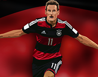 Miroslav Klose Illustration