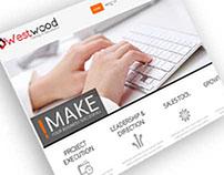 WestWood Logo and Web Mockup