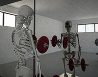 Skull at Gym