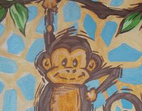 Canvas painting for children's rooms