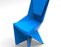 Modelado de silla poligonal