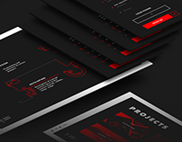 Landing page for a branding agency