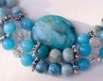 Turquoise Jasper Triple Strand Necklace
