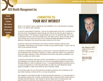 Website copy: My Practice, for Financial Planner