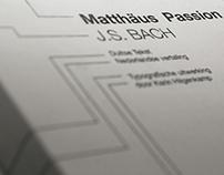 Bookdesign Matthäus Passion