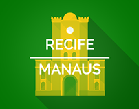 Brazil 2014 Host Cities - Recife & Manaus