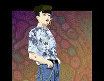 Digital Lookbook Illustration for WSH Skate Apparell
