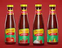 Pascal ketchup label design