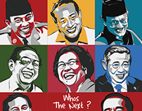 Illustration - Indonesia President (from Era to Era)