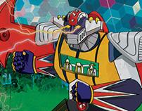 Robot Invader Beer Label Design