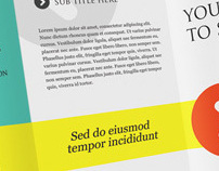 Coexist Trifold Brochure Template