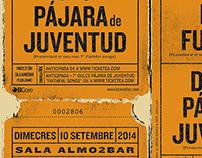 Eric Fuentes / Dulce Pájara de Juventud gig poster