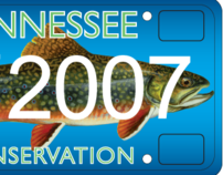 Trout Unlimited Tennessee License Plate (Pro-Bono)