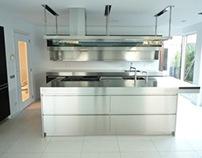 Arclinea kitchen Convivium inox vs Artusi black oak
