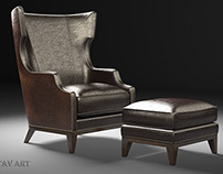 The Forbes wing back chair