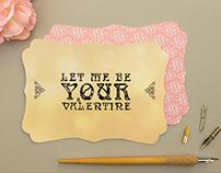 Typography / Valentine Card
