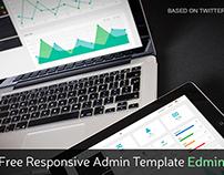 Responsive Bootstrap Admin Template – Edmin