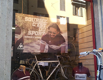 Poster per il fuori salone Rossignoli Milano per Le Coq