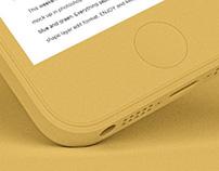 FREEBIE: PSD IPHONE5S COLORFUL MOCKUP