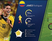 Player Stats InfoGraphics for World Cup 2014
