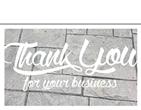 Thank You Cards: Man Around the House, Stamped Concrete
