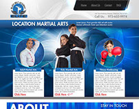 Kids Karate School Website Concept