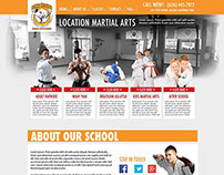 Martial Arts School Website Concept