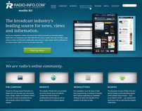 "Media Kit ""Microsite"" Homepage Design"