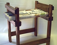 newspaper stool