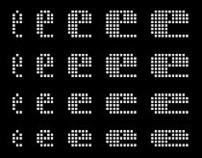 Elementar, parametric font system