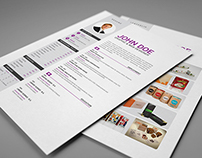 Clean Resume 3in1 with MS Word File