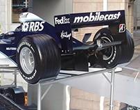 Reuters Formula 1 installation at Canary Wharf
