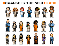 Orange Is The New Black - Pixel Art Poster