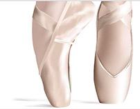 Malla, Zapatillas de Ballet