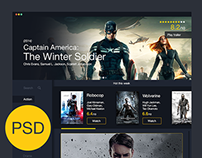 Movies UI Freebie