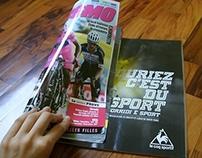 progetto ADV pubblicato su diverse riviste per Le Coq