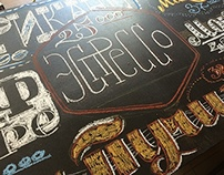 Chalk lettering for GURU coffee club July 2014
