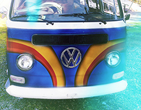 70's Style Surf VW Bus